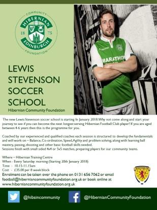 Lewis Stevenson Soccer school 1