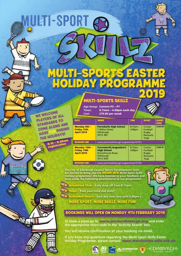 Multi-Sport Skillz Easter Flyer. E-Flyer.-1
