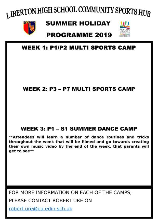 Summer Holiday Programme 2019-1