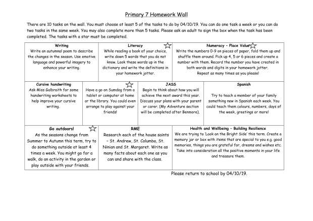 P7 Homework wall aug-oct-1