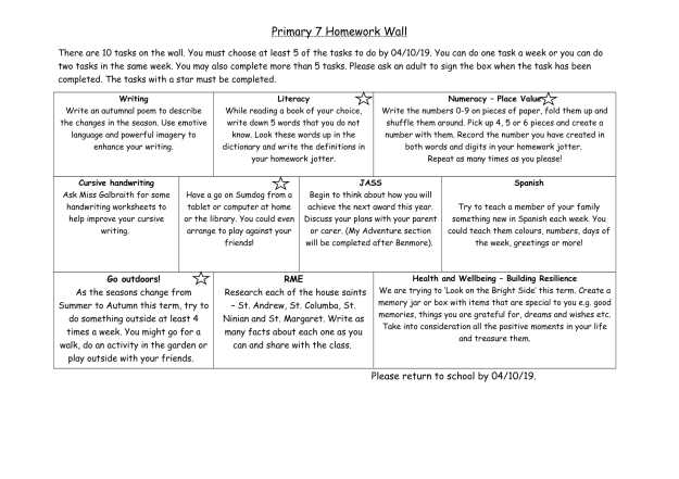 P7 Homework wall aug-oct-1