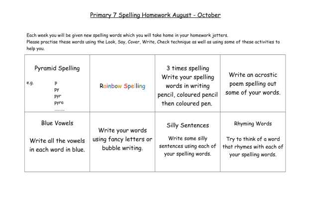 P7 Homework wall aug-oct-3