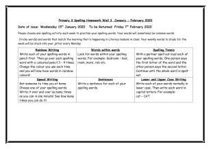 Primary 3 Spelling Wall Jan-1