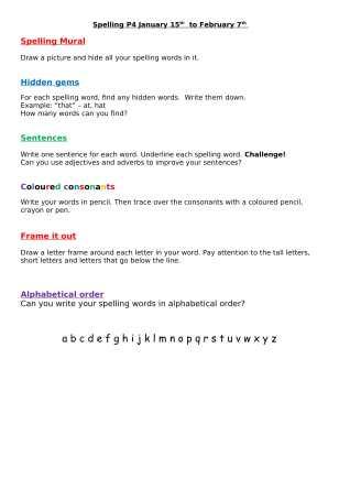 Spelling Jan-1