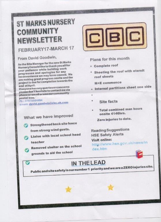 cbc community newsletter